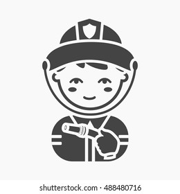 Fireman icon black. Single silhouette fire equipment icon from the big fire Department simple - stock vecto - stock vecto - stock vecto - stock vector