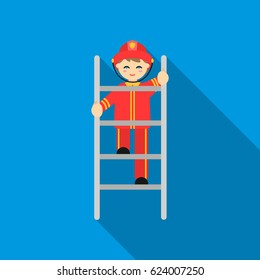 Fireman icon flat. Single silhouette fire equipment icon from the big fire Department flat - stock vecto - stock vecto - stock vecto - stock vector