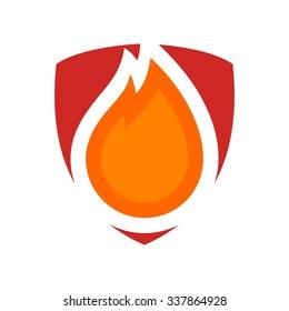 fireman logo vector.