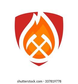 fireman logo vector. pickage of fireman.