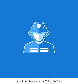 Fireman Vector Avatar Flat Icon