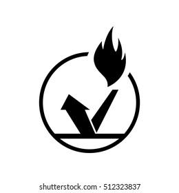 fireproof icon - vector illustration.