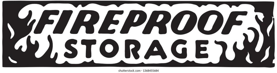 Fireproof Storage  - Retro Ad Art Banner