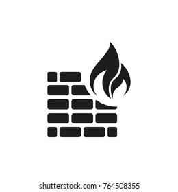 fireproof wall vector icon