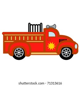 Firetruck or child's toy fire engine.