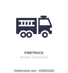 firetruck icon on white background. Simple element illustration from Tools and utensils concept. firetruck icon symbol design.