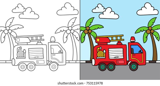 Vehicles Coloring Pages High Res Stock Images Shutterstock