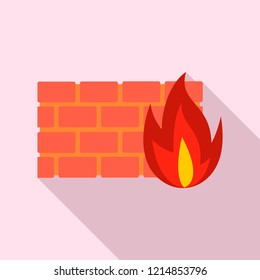 Firewall icon. Flat illustration of firewall vector icon for web design
