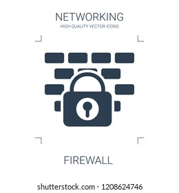 firewall icon. high quality filled firewall icon on white background. from networking collection flat trendy vector firewall symbol. use for web and mobile