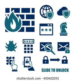 firewall icon set