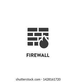 firewall icon vector. firewall vector graphic illustration