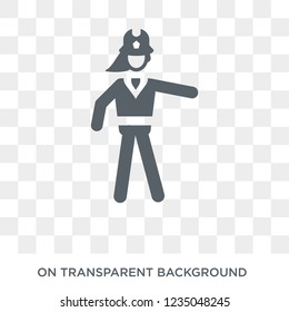 Firewoman icon. Trendy flat vector Firewoman icon on transparent background from Ladies collection.