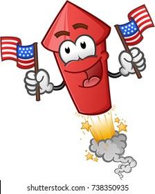 Firework Cartoon Character