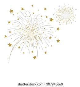 Firework design on white background vector illustration
