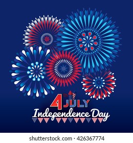 firework effect symbolizing 4th of July independence day celebrations.