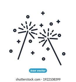 Firework icon. Firework party festival symbol template for graphic and web design collection logo vector illustration