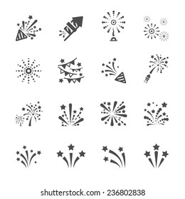 firework icon set 4, vector eps10.