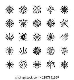 Firework Icons Set