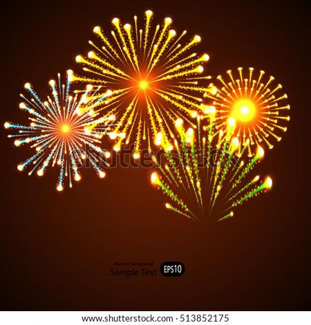 firework new year holiday celebration template
