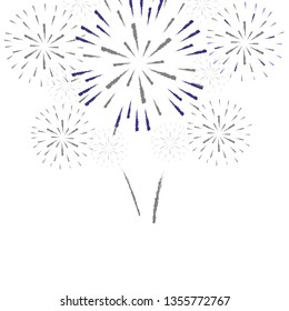 firework on white background, can be use for celebration, party, and new year event. vector illustration.