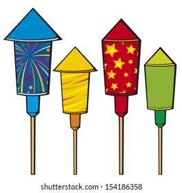 firework rockets (fire cracker)