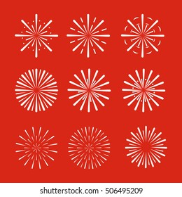 Firework set. Vector Eps. 10