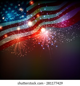 Fireworks background for  Independence Day