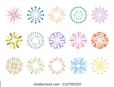 Fireworks display icons