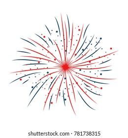 fireworks explosion decorative frame