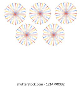 Fireworks on white background isolated