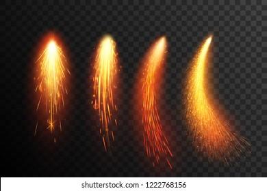 Fireworks. Sparkling comets.