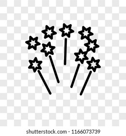 Fireworks vector icon isolated on transparent background, Fireworks logo concept