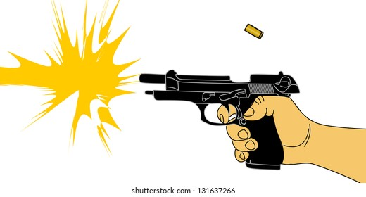 firing gun