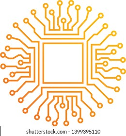 firmware design logo concept, energy logo, line style design.