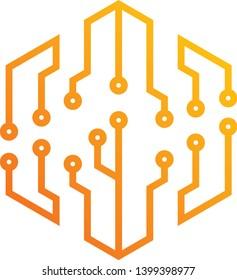 firmware design logo concept, energy logo, line style design,Trendy flat geometric designs.