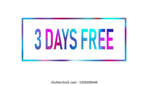 First 2 month free color neon sign icon. Special offer symbol.