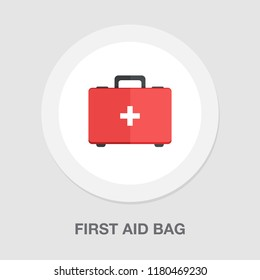first aid bag icon - medical box - emergency icon - health care
