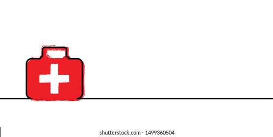 First aid bag line pattern medical logo Vector 112 911 000 AED icon sign signs distress signal life saver Lifebuoy pointer sos call marker alarm help location health safety first cpr location Emergen
