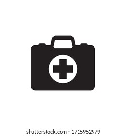 first aid box glyph style design