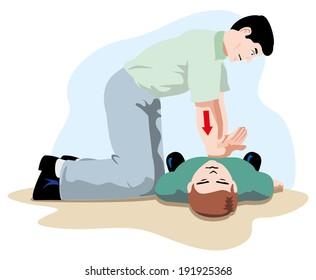 first aid cardiac massage
