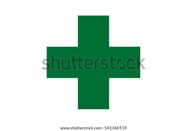 First Aid Green Medical Cross Vector Stock Vector (Royalty