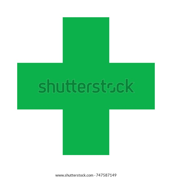 First Aid Green Medical Cross Vector Stock Vector (Royalty Free