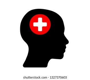 first aid head icon. VECTOR