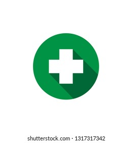 First aid icon design template vector isolated illustration