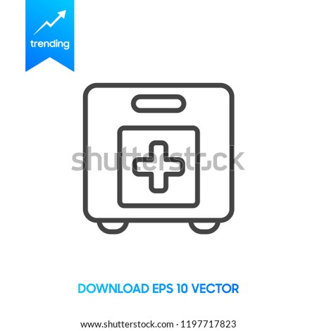 First Aid Icon Trendy Flat Style Stock Vector (Royalty Free