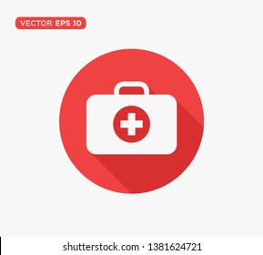 First Aid Kit Icon Vector Illustration
