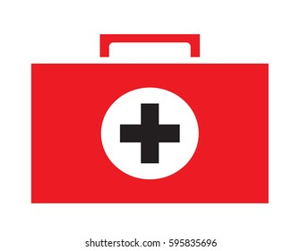 First aid kit icon vector isolated white background. Medical icons.