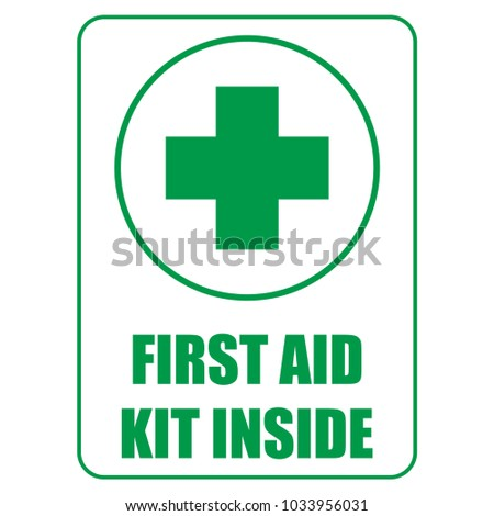 First aid kit inside sign template stock vector royalty free first aid kit inside sign template design for healthcare hospital and medical diagnostics concept maxwellsz
