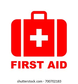 First aid kit medical icon, vector illustration.