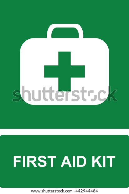 First Aid Kit Sign Symbol Stock Vector (Royalty Free) 442944484